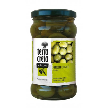 Olives vertes TERRA CRETA SELECTION 160g
